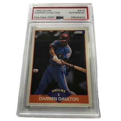 Darren Daulton Autographed Baseball Card PSA