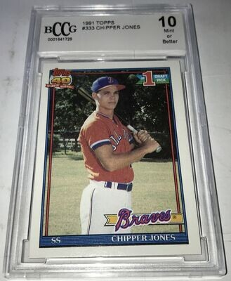 1991 Topps Chipper Jones BCCG 10