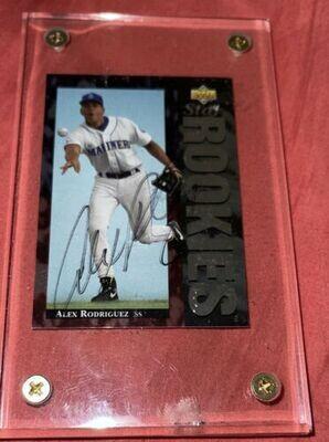 Alex Rodriguez autographed baseball card