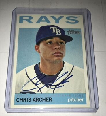 Chris Archer 2013 Topps Heritage Real One Autographs