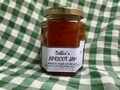 Jam: Apricot. Debbie's. Should be back in stock once the new season's fruit has been picked.