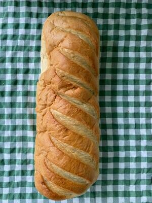 Bread: white bloomer. Cranleigh Bakery.