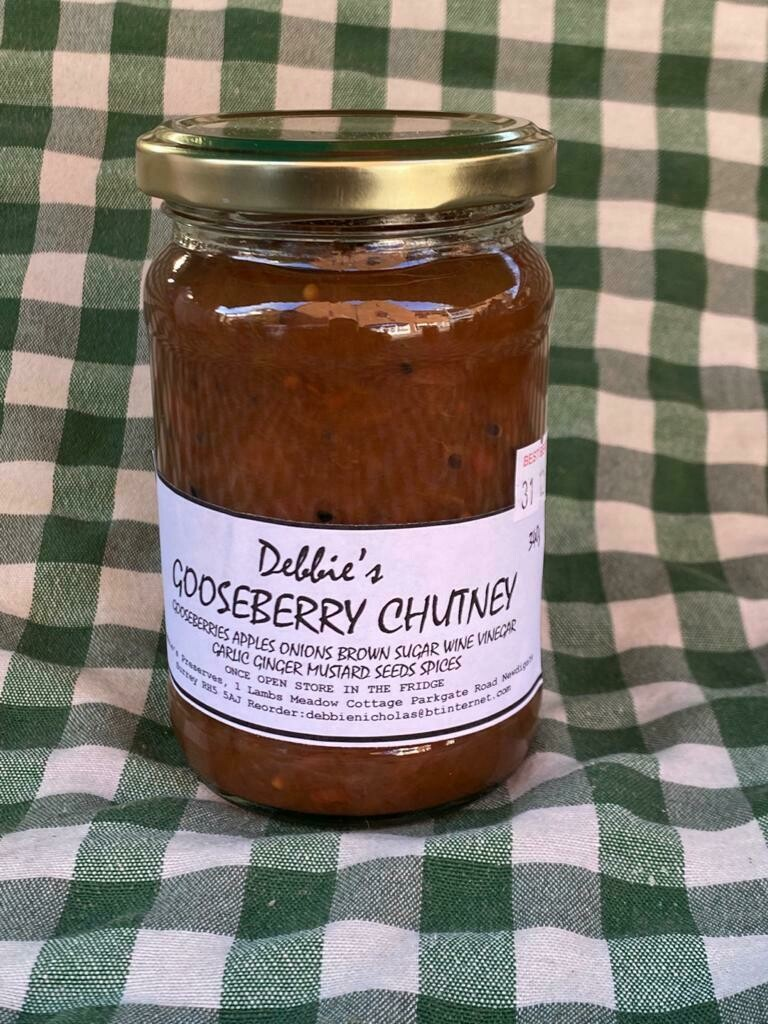 Preserves. Chutney: gooseberry. Debbie's.