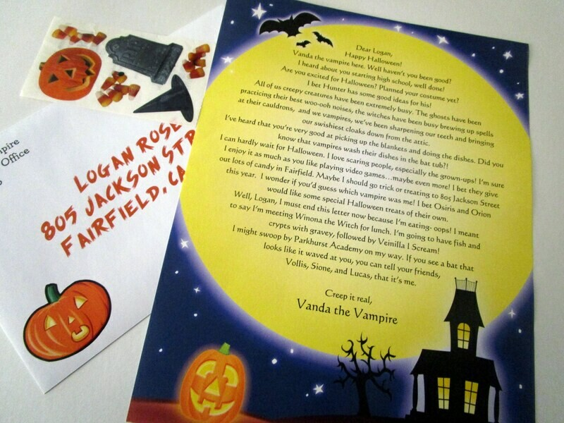 Letter from a Spooky Being for Halloween