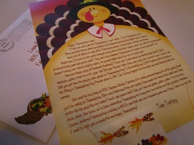 Letter from Tom Turkey