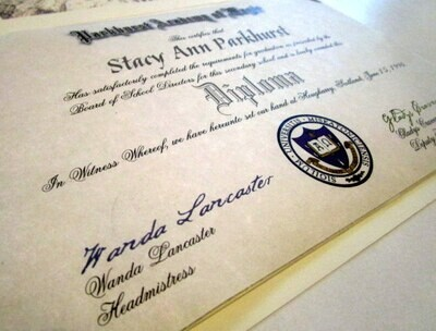Diploma to any Fictional / Wizarding School