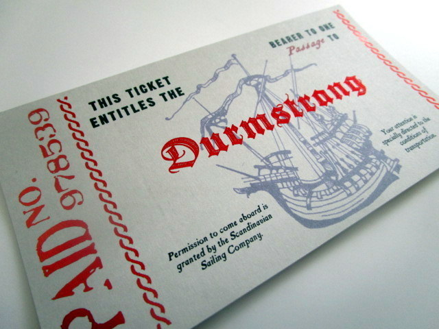 Scandinavian Wizarding School Boat Ticket