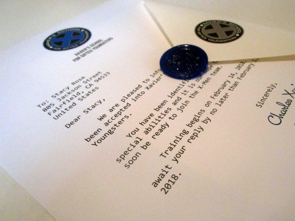 Mutant School Acceptance Letter