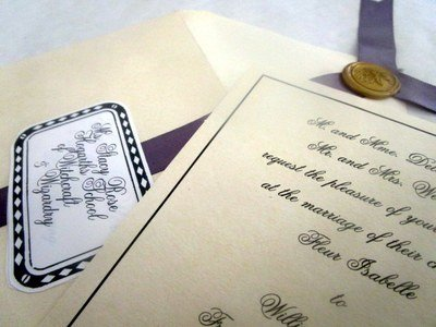 Bill & Fleur Wedding Invitation
