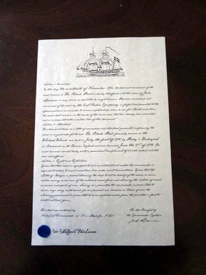 Pirate Ships Ownership Papers