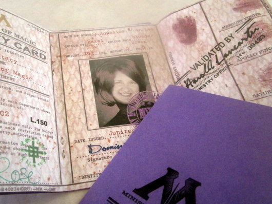 British Wizarding Government Identity (I.D.) Card