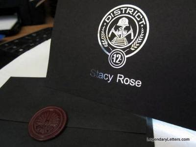 Starving Games District or Jay Notecards & Wax Seals (10)