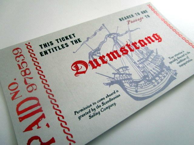 Scandinavian Wizarding School Boat Ticket