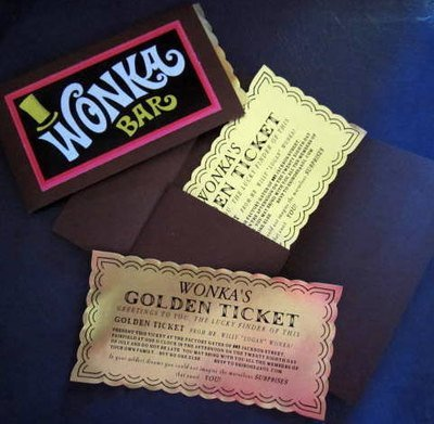Classic Golden Ticket in Folder Customized