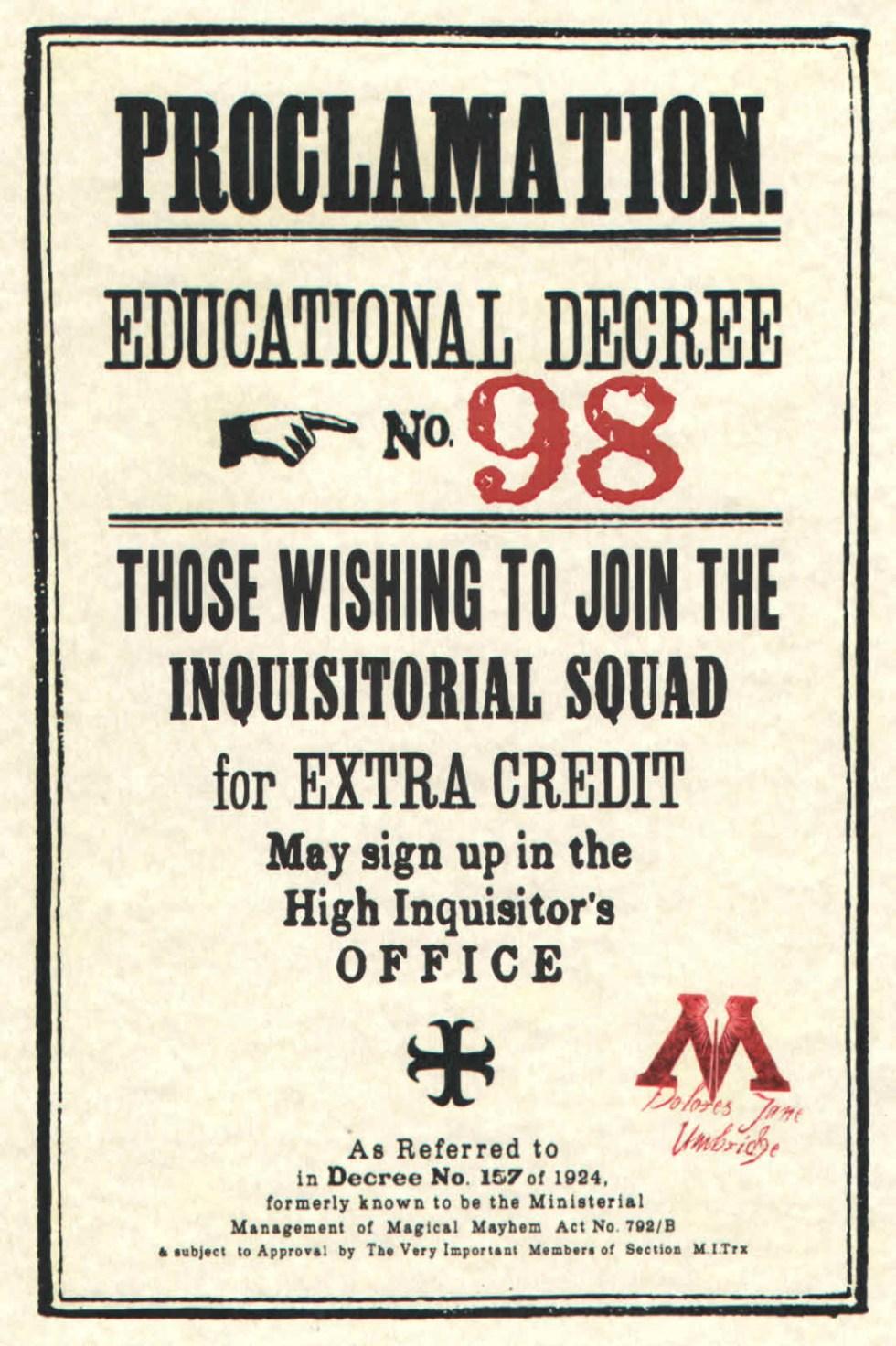 Educational Decree Proclamation