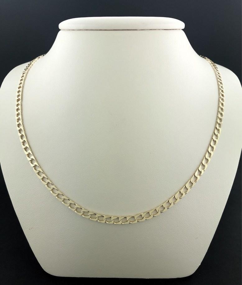 Chaîne en or 18 carat mailles carrée mesurant 20 pouces