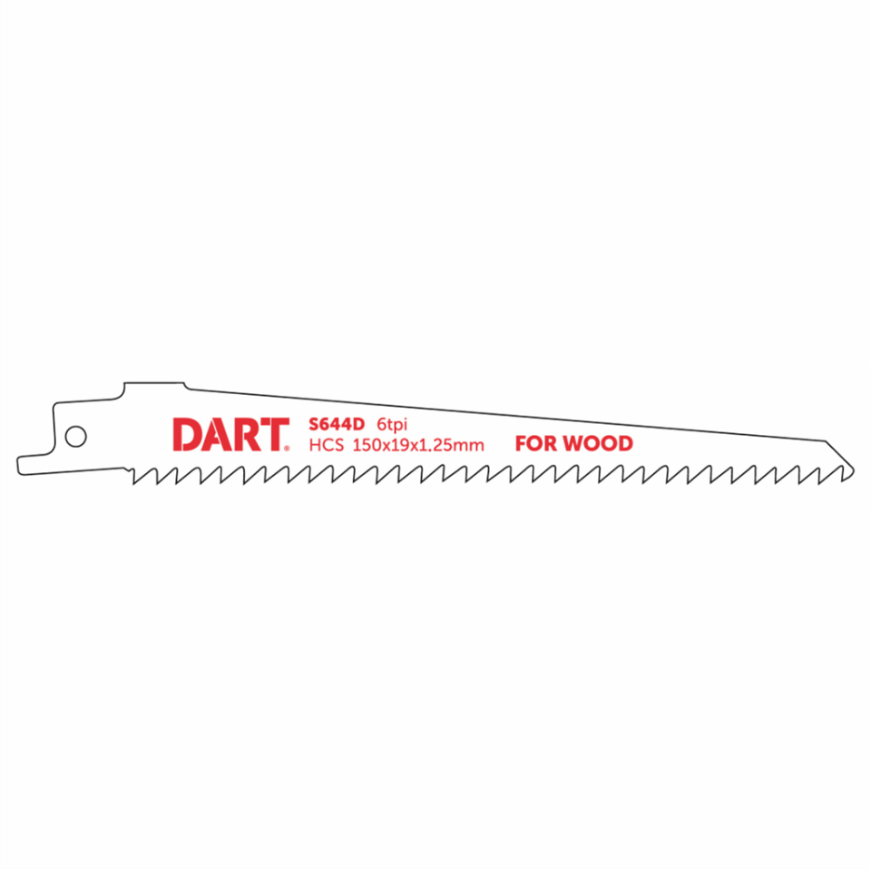 130mm x 6TPI Reciprocating Blades CV S644D Pack of 5