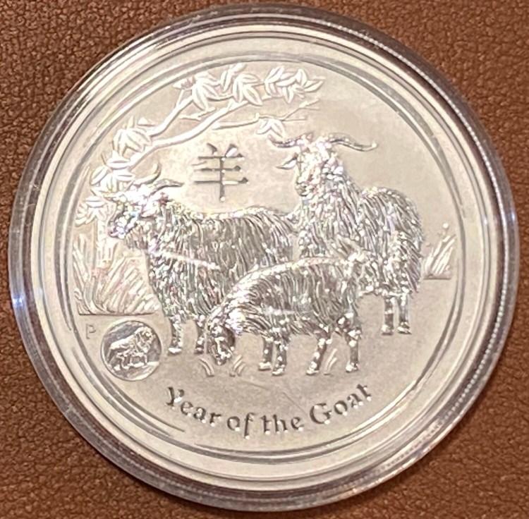 1 Unze Silber Australia Lunar II 2015 Goat