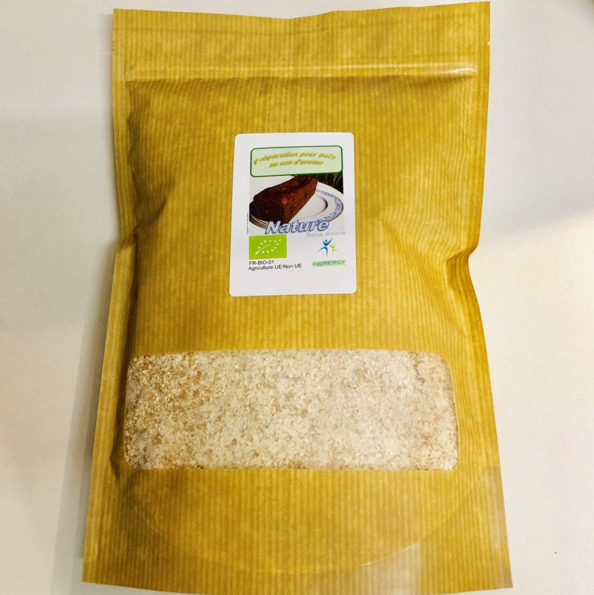 Préparation pour galettes protéinées bio au blanc d'œuf (Nature) en 1 kg
