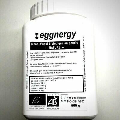 Blanc d'œuf bio en poudre: 500 g - Code 0