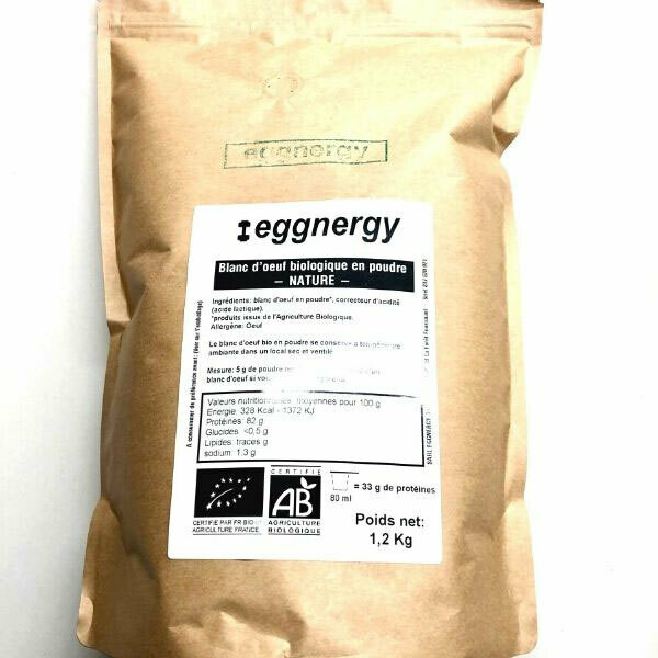 Blanc d'œuf bio en poudre - 1200 g