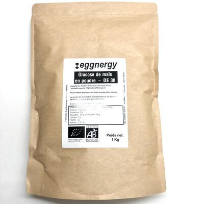 Glucose de maïs en poudre - 1 kg (peu sucrée)