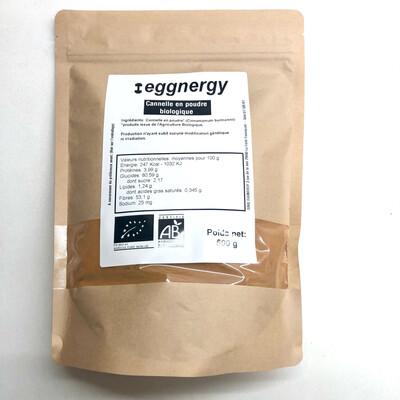 Cannelle bio en poudre: sachet de 500 g