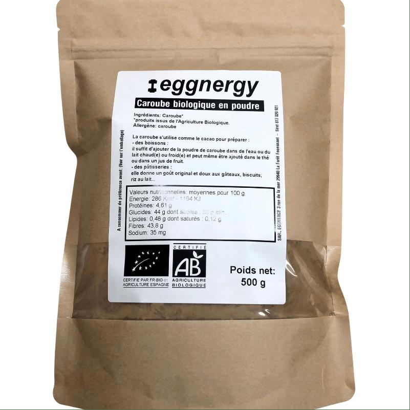 Poudre de caroube bio en sachet de 500 g