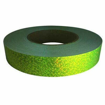 Holographic Sequin Tape, Fluorescent Yellow