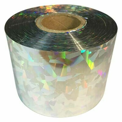 Bird Scare Tape and Festival Ribbon Silver Cracked Ice