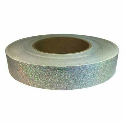 Holographic Tape, Silver Glitter