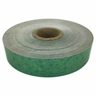 Holographic Star Tape, Green