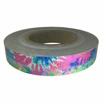 Holographic Sequin Tape, Tie Dye Pink-Blue