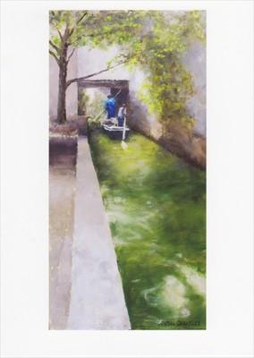 'Canal, Suzhou' Notecard