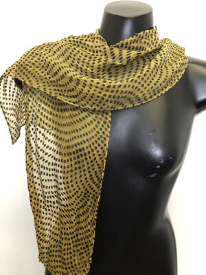 Dusty Sage Dots Burnout  Scarf