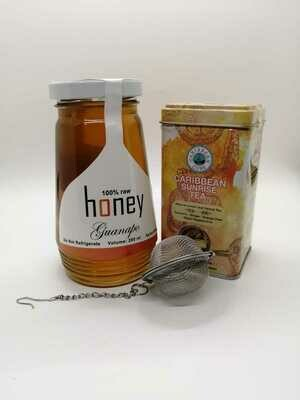 Caribbean Sunrise Tea and Honey Combo