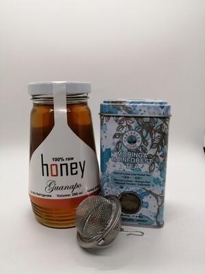 Moringa Rainforest Tea and Honey Combo