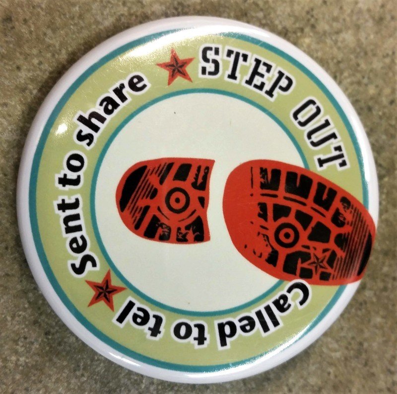 Step Out Logo Large Button