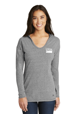 New Era Ladies Tri-Blend Performance Pullover Hoodie Tee