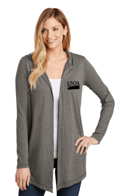 District Women's Perfect Tri Hooded Cardigan