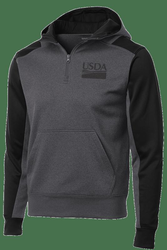 Sport-Tek Tech Unisex Fleece Colorblock 1/4-Zip Hooded Sweatshirt