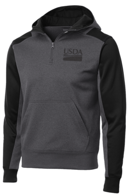 Sport-Tek Tech Unisex Fleece Colorblock 1/4-Zip Hooded Sweatshirt