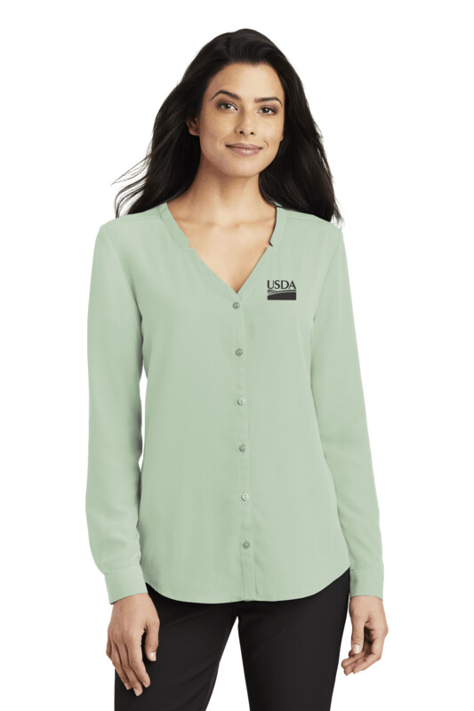 Port Authority ® Ladies Long Sleeve Button-Front Blouse