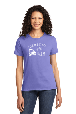 Life is Better on the Farm White  REGULAR PRICE  $19.00