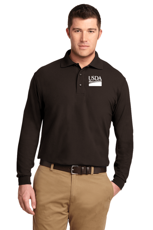 Tall Silk Touch Long Sleeve Polo Shirt