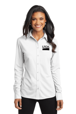 Dimension Knit Dress Shirt  Custom Embroidery Available