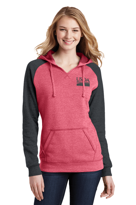 Women's Lightweight Fleece Raglan Hoodie