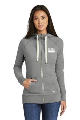 New Era® Ladies Sueded Cotton Blend Full-Zip Hoodie  Custom Embroidery Available