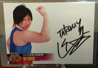 Takumi Iroha 2013 Stardom Official Card Set Autograph