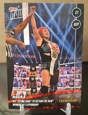 Asuka WWE TOPPS NOW Card #55 - Print Run: 102